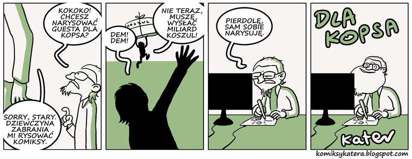 410. Komiks gościnny od katera (;_;)
