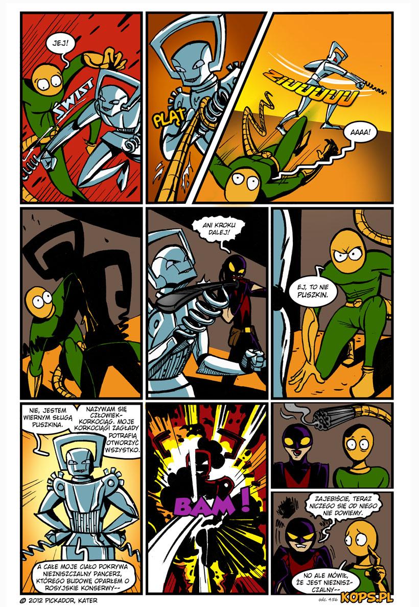 Szpak&Gecko crossover: Człowiek-Korkociąg