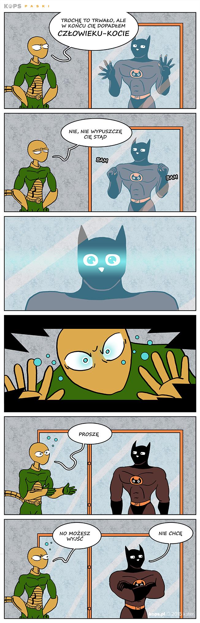 Gecko vs Człowiek-Kot